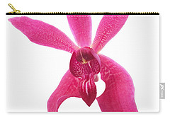Carry-all Pouch featuring the photograph Red Orchid Head by Atiketta Sangasaeng