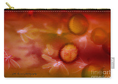Carry-all Pouch featuring the photograph Red Pearl Dragon Fly by Vicki Ferrari