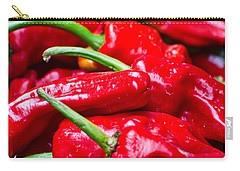 Carry-all Pouch featuring the photograph Red Peppers by Don Schwartz