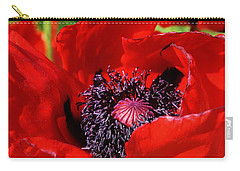 Red Poppy Close Up Carry-all Pouch