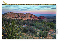 Red Rock Sunset II Carry-all Pouch by Rick Berk