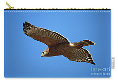 Red Shouldered Hawk In Flight Carry-all Pouch