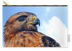 Carry-all Pouch featuring the photograph Red Shouldered Hawk Portrait by Dan Friend