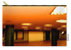 Carry-all Pouch featuring the photograph Red Subway by Andy Prendy