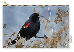 Redwing Blackbird Carry-all Pouch by Betty LaRue