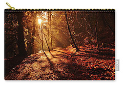 Carry-all Pouch featuring the photograph Reelig Sun by Gavin Macrae