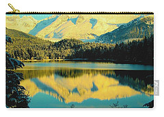 Carry-all Pouch featuring the photograph Reflecting On Auke Lake by Myrna Bradshaw