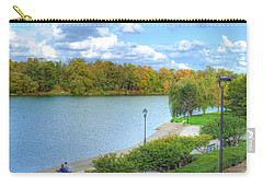 Carry-all Pouch featuring the photograph Relaxing At Hoyt Lake by Michael Frank Jr