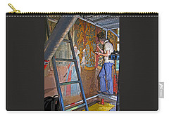 Carry-all Pouch featuring the photograph Restoring Art by Ann Horn