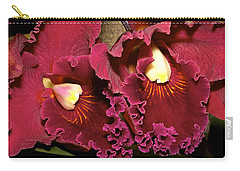 Rich Burgundy Orchids Carry-all Pouch by Phyllis Denton