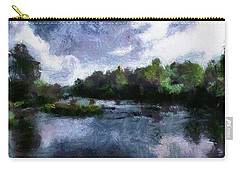 Carry-all Pouch featuring the painting Rideau River View From A Bridge by Mario Carini