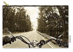 Riders Eye Veiw In Sepia Carry-all Pouch by Micah May