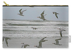 Carry-all Pouch featuring the photograph Riding The Wind by Donna Brown