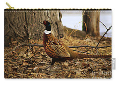 Ring-necked Pheasant Carry-all Pouch by Alyce Taylor