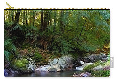 Carry-all Pouch featuring the photograph River In Cawdor Big Wood by Joe Macrae