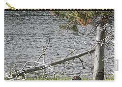 Carry-all Pouch featuring the photograph River Otter by Belinda Greb