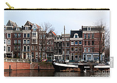 Carry-all Pouch featuring the digital art River Scenes From Amsterdam by Carol Ailles