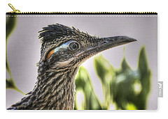 Roadrunner Portrait  Carry-all Pouch by Saija  Lehtonen