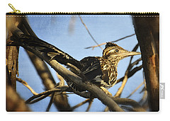 Roadrunner Up A Tree Carry-all Pouch by Saija  Lehtonen