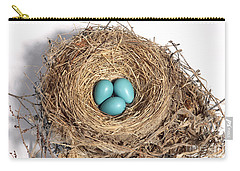 Robins Nest With Eggs Carry-all Pouch by Ted Kinsman