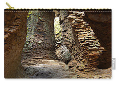 Carry-all Pouch featuring the photograph Rock Chamber by Vicki Pelham