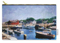 Rockport Maine Harbor Carry-all Pouch by Michelle Calkins