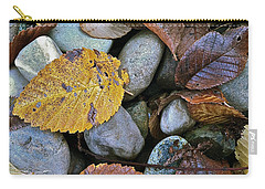 Carry-all Pouch featuring the photograph Rocks And Leaves by Bill Owen
