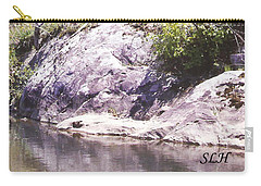 Rocks On The Bank Carry-all Pouch