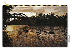 Rogue River Sunset Carry-all Pouch by Mick Anderson