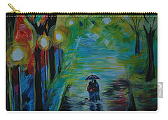 Romantic Stroll Series 1 Carry-all Pouch by Leslie Allen
