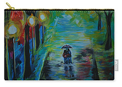 Romantic Stroll Series II Carry-all Pouch by Leslie Allen