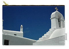 Rooftops Of Mykonos Carry-all Pouch by Vivian Christopher