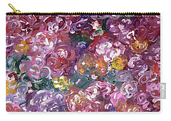 Carry-all Pouch featuring the painting Rose Festival by Alys Caviness-Gober