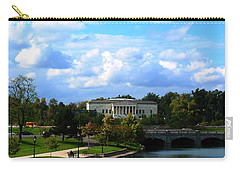Carry-all Pouch featuring the photograph Rose Garden And Hoyt Lake by Michael Frank Jr