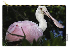 Roseate Spoonbill Carry-all Pouch by Fran Gallogly