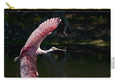 Carry-all Pouch featuring the photograph Roseate Spoonbill by Steven Sparks