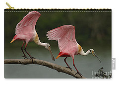 Rosiette Spoonbills Carry-all Pouch by Bob Christopher