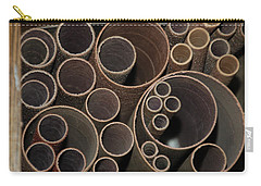 Round Sandpaper Carry-all Pouch by Randy J Heath