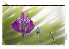 Purple Japanese Water Iris Carry-all Pouch