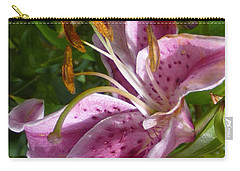 Rubrum Lily Carry-all Pouch by Carla Parris