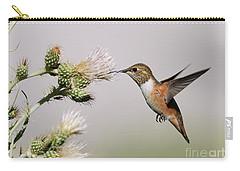 Rufous Hummingbird Carry-all Pouch by Doug Herr