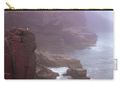 Rugged Seacoast In Mist Carry-all Pouch