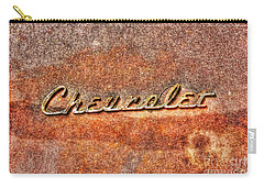 Rusted Antique Chevrolet Logo Carry-all Pouch by Dan Stone
