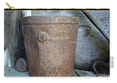 Rusty Bucket Carry-all Pouch by Kerri Mortenson