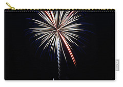 Carry-all Pouch featuring the photograph Rvr Fireworks 11 by Mark Dodd