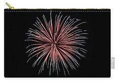 Carry-all Pouch featuring the photograph Rvr Fireworks 12 by Mark Dodd