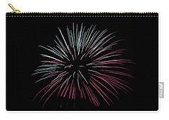 Carry-all Pouch featuring the photograph Rvr Fireworks 15 by Mark Dodd