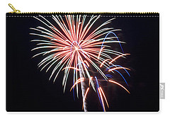 Carry-all Pouch featuring the photograph Rvr Fireworks 16 by Mark Dodd
