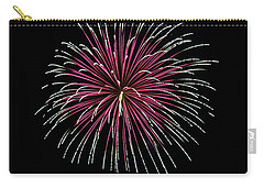 Carry-all Pouch featuring the photograph Rvr Fireworks 8 by Mark Dodd