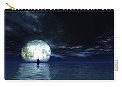 Carry-all Pouch featuring the digital art Sailing At Night... by Tim Fillingim